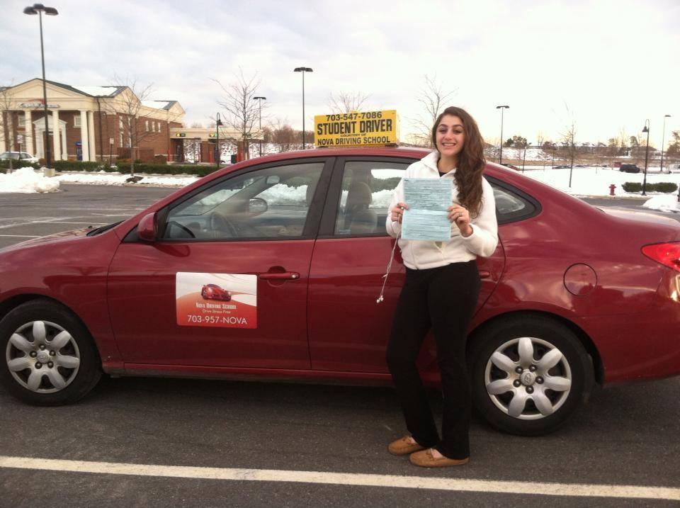 Carmen got driving license on first attempt