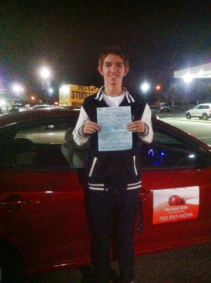 Dean Passed his driving Test
