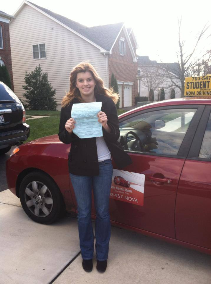 Julia passed her driver test today
