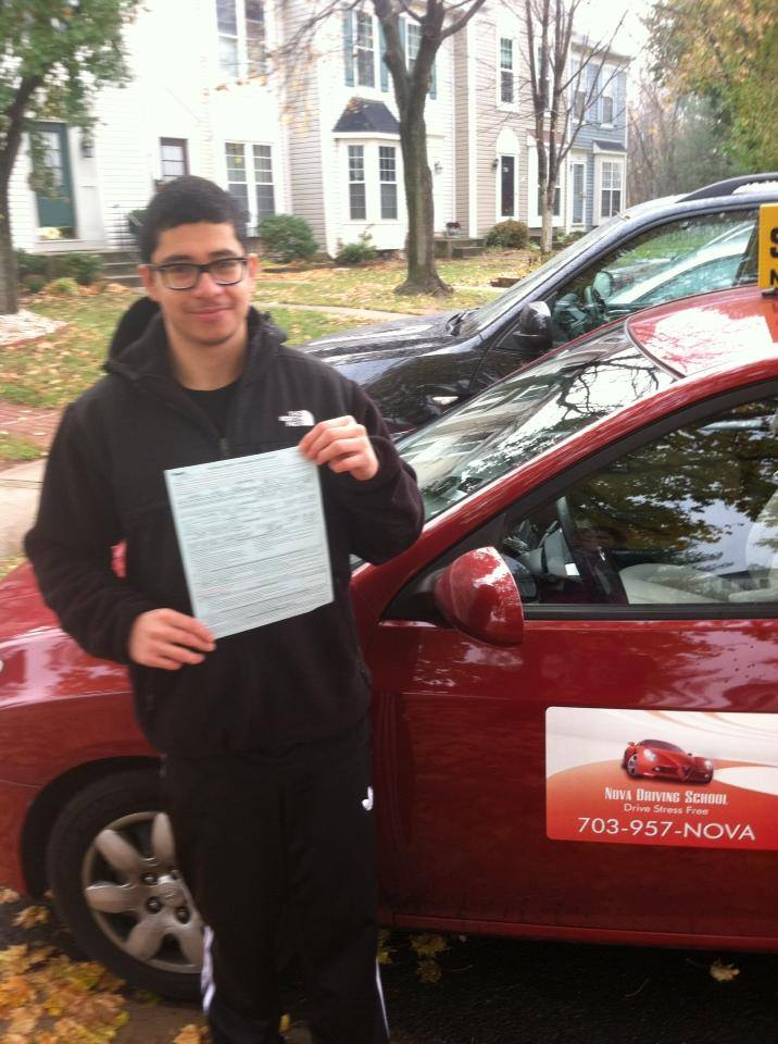 Willy passed and got his driving License
